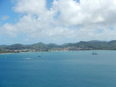 Blick über die Rodney Bay