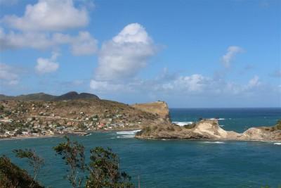 Dennery an der Ostküste von St. Lucia