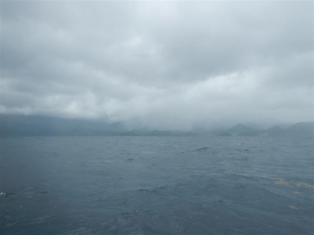 Auch St. Vincent ist wolkenverhangen