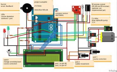 arduino autopilot blue-felix.de v1.0 beta