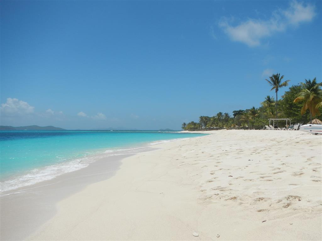 Am Strand von Palm Island.