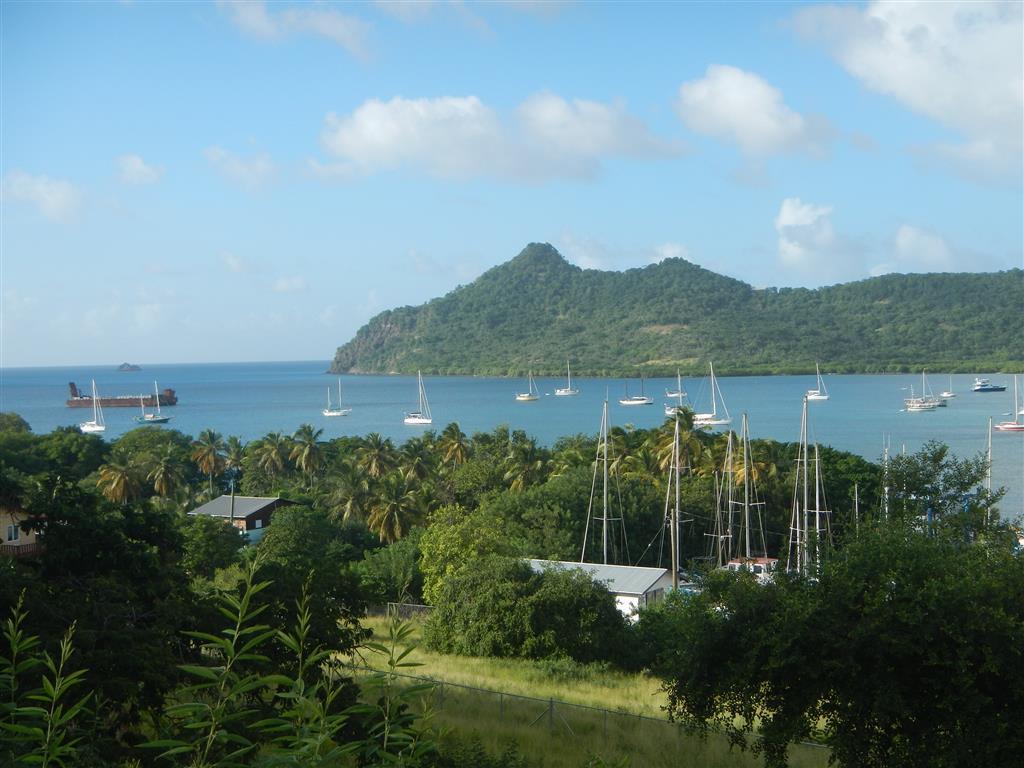 Blick über die Tyrell Bay auf Carriacou