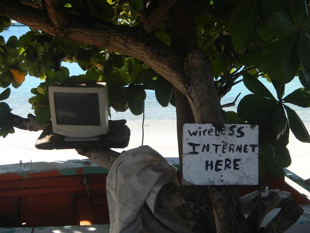 Auch auf Carriacou gibt es Internet...