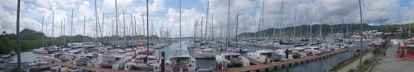 Blick über die Marina in Le Marin