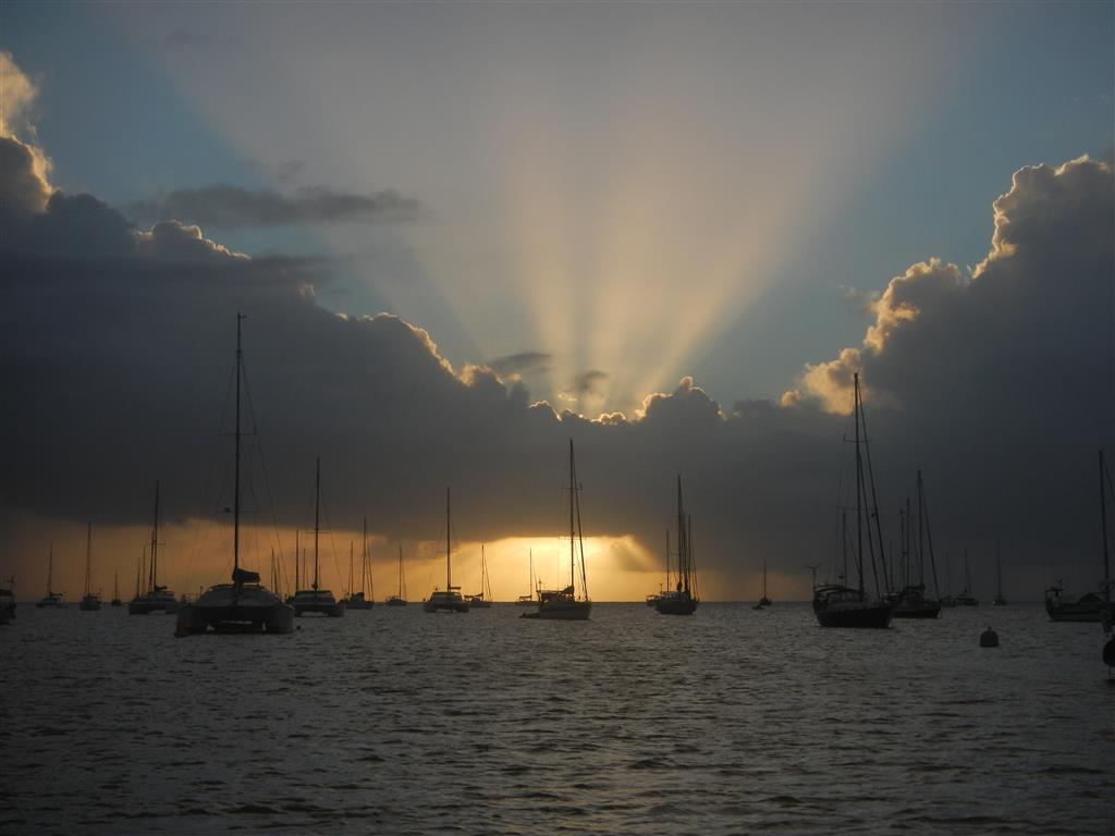 Sonnenuntergang in St. Anne.