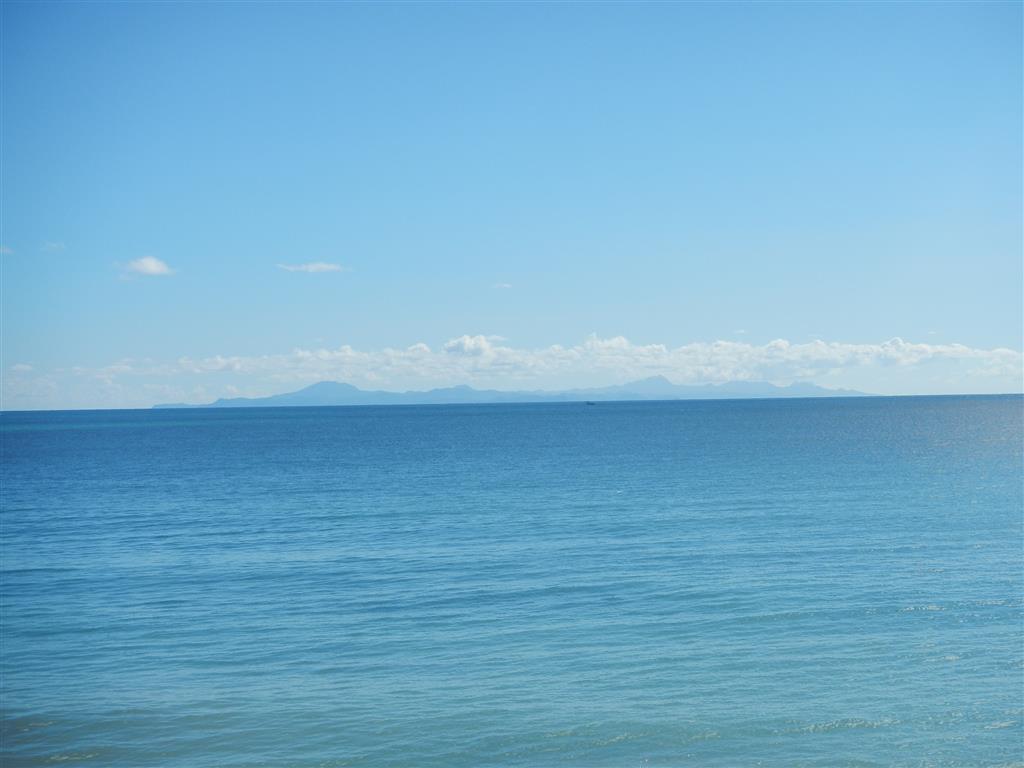 Die Sicht ist so gut, dass wir sogar St. Lucia im Süden sehen können.