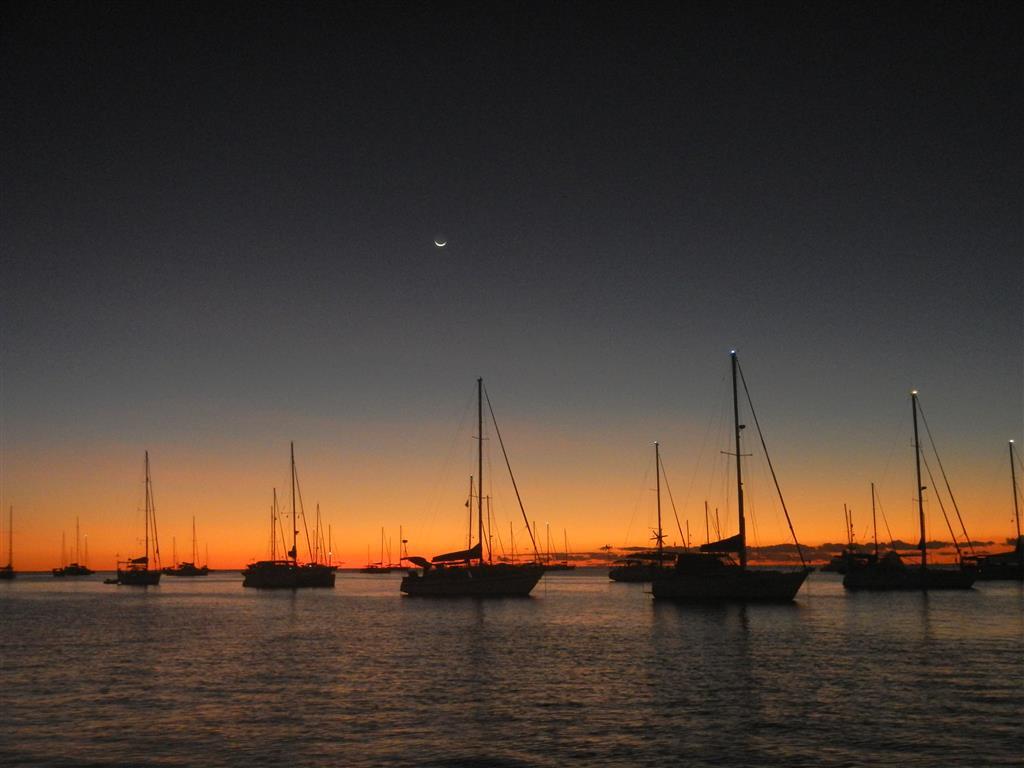 Wunderschöner Sonnenuntergang in St. Anne.