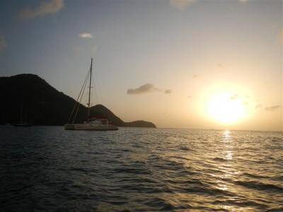 die Teoula in der Rodney Bay