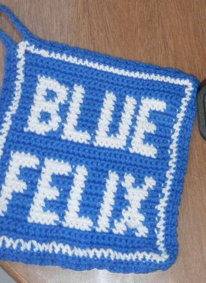 Topflappen Blue Felix