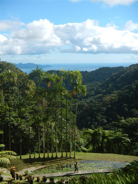 Blick nach Süden. Man sieht die südliche Landzunge von Martinique. Auf dem Bild nicht zu erkennen ist St. Lucia im Hintergrund.
