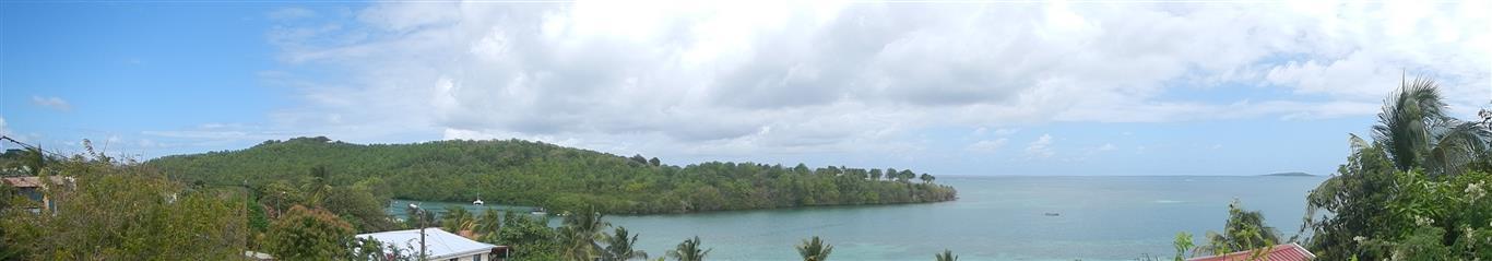 Blick über die Ostküste von Martinique