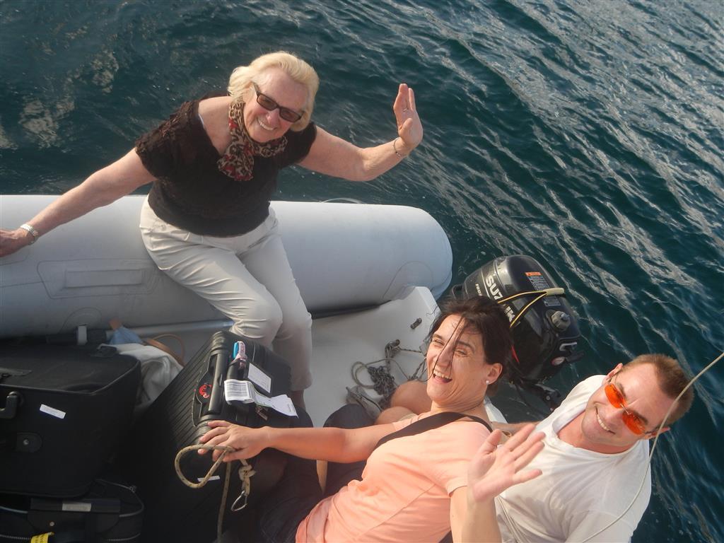 Ankunft Rose Marie und Claudia