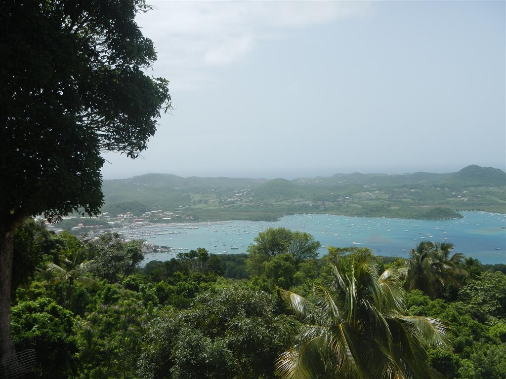 Blick auf die Marina von Le Marin