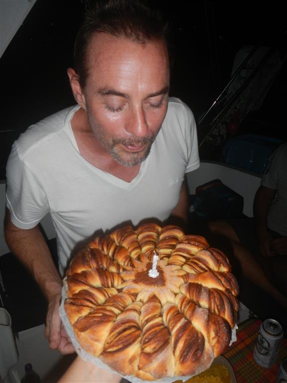 Wir feiern Svens Geburtstag.
