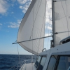 Unter Schmetterlinsbesegelung Richtung Kap Verden
