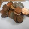 Kupfermünzen findet man hier täglich auf der Straße