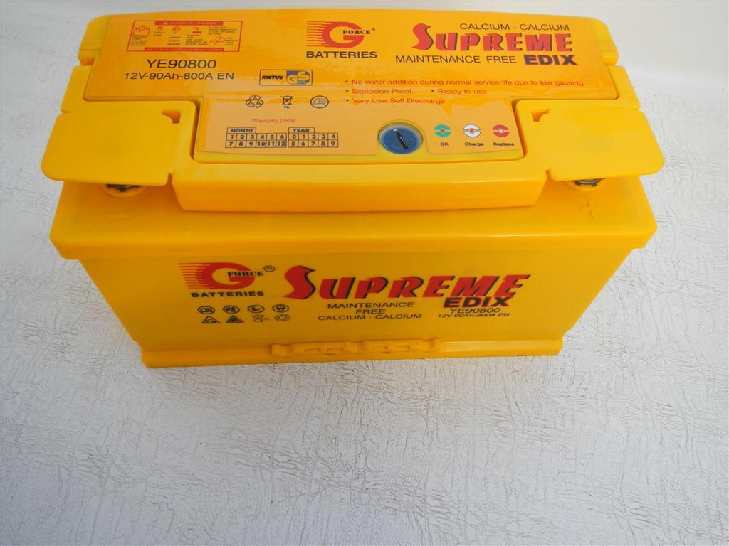 Da unsere alte Starterbatterie leider undicht war, haben wir uns hier eine neue gekauft