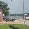 Ankerplatz in Saint Laurent du Maroni, franz Guyana